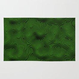 Green Topographic Landscape Rug