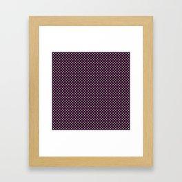 Black and Bodacious Polka Dots Framed Art Print