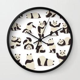 Pandas Party Wall Clock