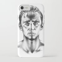 tom hiddleston iPhone & iPod Cases featuring Tom Hiddleston 3 by aleksandraylisk