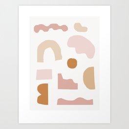 Rhode - modern minimalist earthtone art print, geometric minimalist art print, earthtone wall art Art Print
