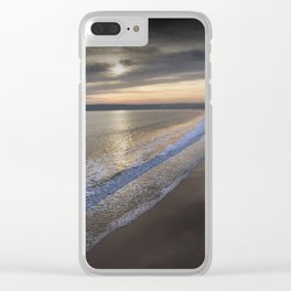 Sunset at Three Cliffs Bay Clear iPhone Case