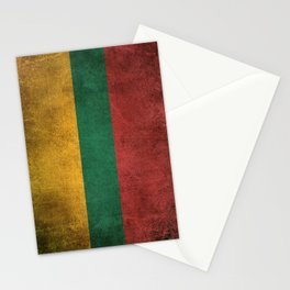 Old and Worn Distressed Vintage Flag of Lithuania Stationery Cards