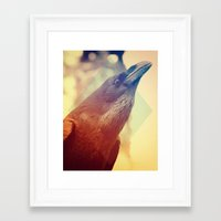 crow Framed Art Prints featuring Crow by Victor Vercesi