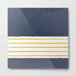 Navy stripes Metal Print