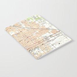 Vintage Map of Phoenix Arizona (1952) Notebook