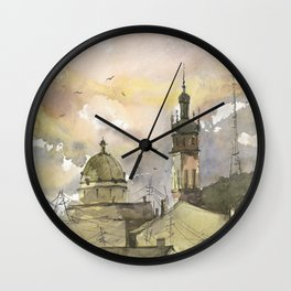 Lviv art Wall Clock