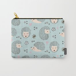 So Many Happy Little Hedgehogs To Hug Pattern Carry-All Pouch