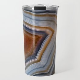 Layered agate geode 3163 Travel Mug
