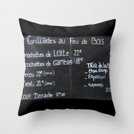 French menu Throw Pillow