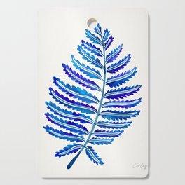 Fern Leaf – Navy Palette Cutting Board