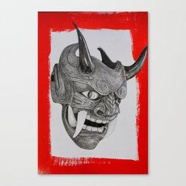 Demon mask of madness Canvas Print