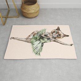 Siamese Ballerina in Cat Ballet Rug