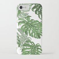 palms iPhone & iPod Cases featuring Monstera Deliciosa by Laura O'Connor