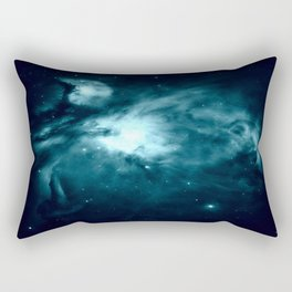 Teal Orion nebula : Hauntingly Beautiful Space Series Rectangular Pillow