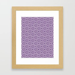Purple Diamond Gometric Pattern Framed Art Print