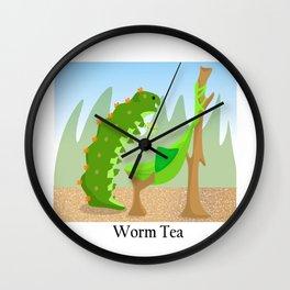 Worm Tea Wall Clock