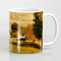 cows Mugs featuring Cows by Gil Finkelstein