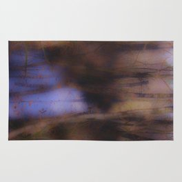Creek in the autumn mist  Rug