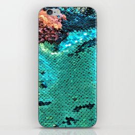 Turquoise Sparkles iPhone Skin