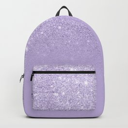 Stylish purple lavender glitter ombre color block Backpack