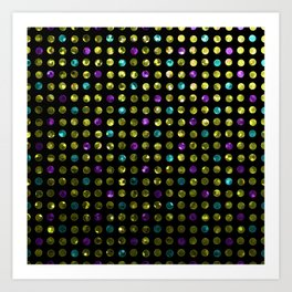 Polkadots Jewels G189 Art Print