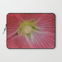 Heart of a Hollyhock Blossom Laptop Sleeve