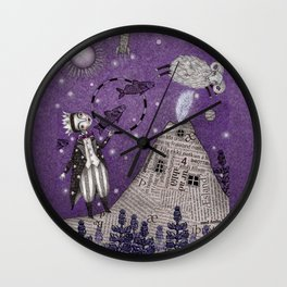 When the Little Prince came to Iceland Wall Clock