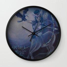 """Amethea"" original mixed media painting by Katrina Koltes Wall Clock"