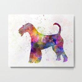 Airedale Terrier 01 in watercolor Metal Print