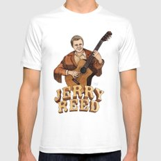 Jerry Reed MEDIUM Mens Fitted Tee White