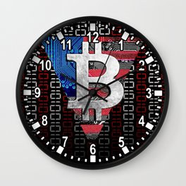 bitcoin USA  Wall Clock
