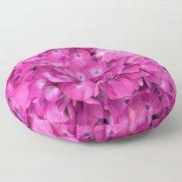 Artful Pink Hydrangeas Floral Design Floor Pillow
