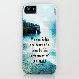 Vegetarian Quote Immanuel Kant Saying Art Beach ocean nature iPhone Case