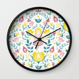 Swedish summer Wall Clock