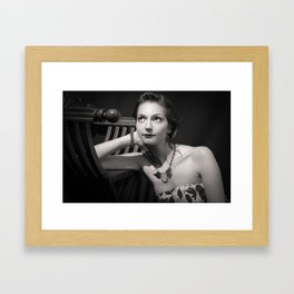 Moongazing Framed Art Print