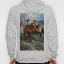 """""""Riders of the Dawn"""" by Frank Tenney Johnson Hoody"""