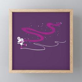 Night skate Framed Mini Art Print