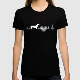 Dachshund Heartbeat Funny Gift Dog Lover T-shirt