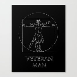 Veteran Man Canvas Print