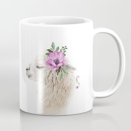 Alpaca with Flower Crown Coffee Mug