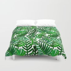 Round Palm Green Duvet Cover