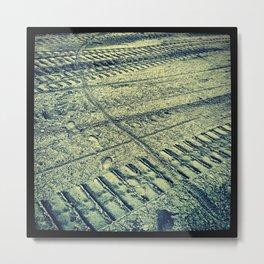 Lunar Tracks Metal Print