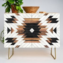 Urban Tribal Pattern No.5 - Aztec - Concrete and Wood Credenza