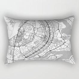 Brasilia Map Line Rectangular Pillow