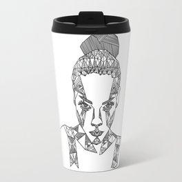 Geometric portrait Travel Mug