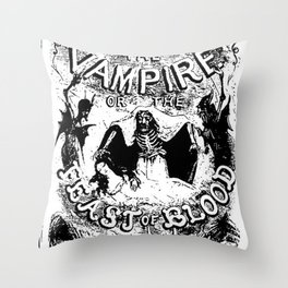 Varney the Vampire Throw Pillow