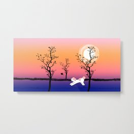 Mina Pompon at sunset Metal Print