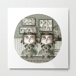 Erma and Dulcibelle Moffatt Metal Print
