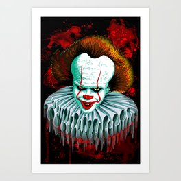 The Dancing Clown - Pennywise IT - Vector - Stephen King Character Art Print